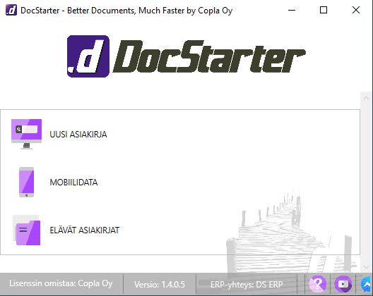 Uusi DocStarter -käyttöliittymä helpottaa asiakirjojen luomista entisestään